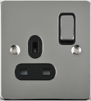 Schneider Electric GET Ultimate Flat Plate 1G Switch Socket (Polished Chrome)