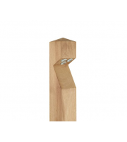 Collingwood Bollard, Led Lyte, Pointed Top, Iroko Wood, Base Entry Cable