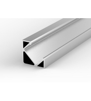 DTS Aluminium Silver LED Profile 45 Degree 2M Length