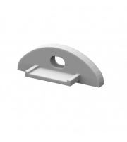 DTS deep flat profile End Cap Pair - (White)