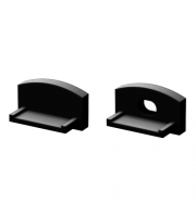 DTS Black End Cap For Flat Profile Pair