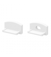 DTS White End Cap For Flat Profile Pair