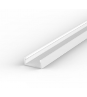 DTS White Surface Flat LED Profile 2M Length