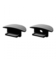 DTS Black End Cap For Recessed Profile Pair