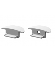 DTS Aluminium  Silver End Cap For Recessed Profile Pair
