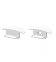 DTS White End Cap For Recessed Profile Pair