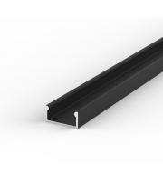 DTS Black Surface Flat LED Profile 2M Length