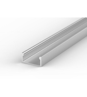 DTS Aluminium Silver Surface Flat LED Profile 2M Length