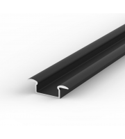 DTS Black Recessed LED Profile 2M Length