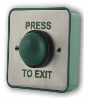 RGL Standard Stainless Steel Green Button Press To Exit