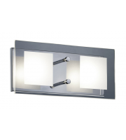 ELD 2 Square Ceiling Light - 2 X 4.5W Osram Led - Clear/satinated Glass