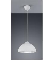ELD Dover Pendant - Glass Smoke/aluminium - Max 60W ((not Supplied)) E27 Fitting