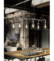 ELD Gotham 6 Light Pendant E27 Lamp