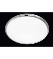ELD Led Round Ceiling LightFlush  - 12W Built-in Smd Led - Chrome & White Plastic