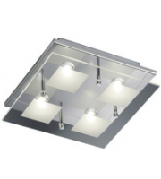 ELD 4 Square Ceiling Light - 4 X 4.5W Osram Led - Clear/satinated Glass,Commercial,Residential