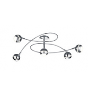 ELD 5 X Chrome Round Led Spot Lights - 5 X 3.8W Built-in Led Bulb,Resdential, Commercial