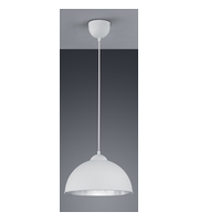 ELD White With Silver Inner Pendant E27 Max 60W (not Supplied)