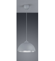 ELD Grey With Silver Inner Pendant E27 Max 60W (not Supplied),Home,Commercial