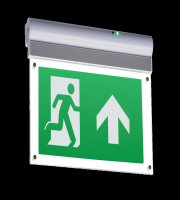 ML Accessories 230V IP20 Wall/Ceiling Mounted LED Emergency Exit Sign (Aluminium)