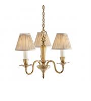 Endon Lighting Asquith 3lt pendant & beige shades