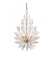 Endon Lighting Orianna 3lt Pendant Champagne paint & clear crystal Dimmable