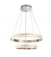 Endon Lighting Celeste 2lt Pendant Chrome plate & clear crystal Dimmable