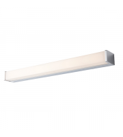 Endon Lighting Edge 1lt Wall Chrome plate & opal pc Non-dimmable