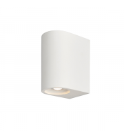 Endon Lighting Anders 2lt Wall White plaster Non-dimmable