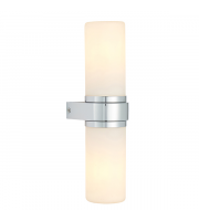 Endon Lighting Tal 2lt Wall Chrome plate & white glass Dimmable