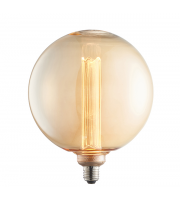 Endon Lighting Globe 1lt Accessory Amber glass Non-dimmable