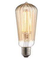 Endon Lighting Ribb Pear 1lt Accessory Amber glass Non-dimmable
