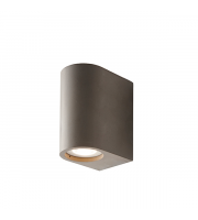 Endon Lighting Anders 2lt Wall Grey concrete Non-dimmable