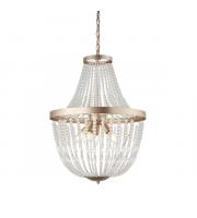 Endon Lighting Celine 5lt Pendant Rose gold paint & clear glass Dimmable