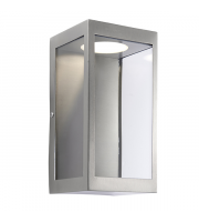 Endon Lighting Dean 1lt Wall Brushed stainless steel & clear glass Non-dimmable