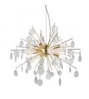 Endon Lighting Calla 8lt Pendant Gold effect plate & clear glass Dimmable