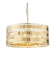 Endon Lighting Eldora 5lt Pendant Gold effect plate Dimmable