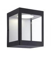 Endon Lighting Dean 1lt Wall Matt black & clear glass Non-dimmable