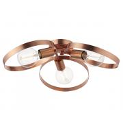 Endon Lighting Hoop 3lt Semi flush Brushed copper plate Dimmable