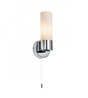 Endon Lighting Purton 1lt Wall Chrome plate & opal glass Non-dimmable