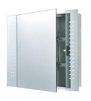 Endon Lighting Reydon 60lt Wall Mirrored glass & matt silver paint Non-dimmable