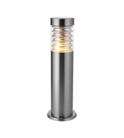Endon Lighting Eaves 1lt Floor Marine grade br stainless steel & clear pc Non-dimmable