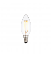 Endon Lighting E14 LED filament candle 1lt Accessory Clear glass Dimmable