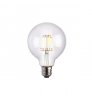 Endon Lighting E27 LED filament globe 1lt Accessory Clear glass Dimmable