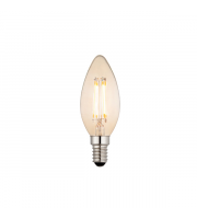 Endon Lighting E14 LED filament candle 1lt Accessory Amber glass Dimmable