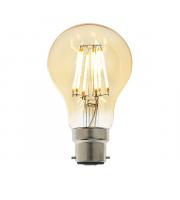 Endon Lighting B22 LED filament GLS 1lt Accessory Amber glass Dimmable
