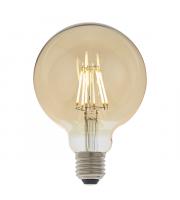 Endon Lighting E27 LED filament globe 1lt Accessory Amber glass Dimmable