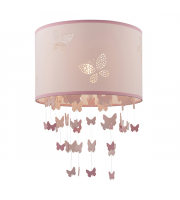 Endon Lighting Amathea 1lt Pendant Pink fabric Not applicable