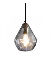 Endon Lighting Ebbe 1lt Pendant Antique gold paint & clear glass Dimmable