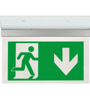 ESP Led 2W Maintained Exit Sign Legend Down