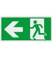 ESP Led 2W Maintained Exit Sign Legend Left